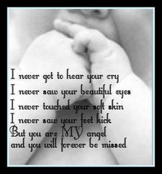 For everyone who experienced loss in anyway of a baby understand the emptiness that is left. Although I have two beautiful babies to tuck in every night we have 4 angels in heaven watching over us all! October is pregnancy and infant loss awareness month. Miscarriage Remembrance, Miscarriage Quotes, Miscarriage Awareness, Miscarriage Tattoo, Infertility Quotes, Grieving Quotes, Infant Loss Awareness, Pregnancy And Infant Loss, Pomes