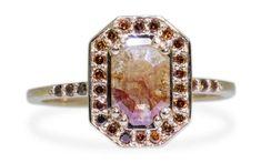 Chinchar/Maloney : cognac champagne diamond ring