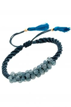 broko I braided bracelet with deep blue agates I NEW ONE maya collection I NEWONE-SHOP.COM