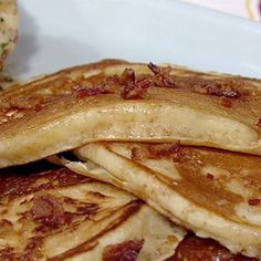 Michael Symon's Bacon Pancakes with Baked Tomatoes Recipe #thechew