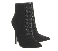 Lust Lace Up Pointed Boots