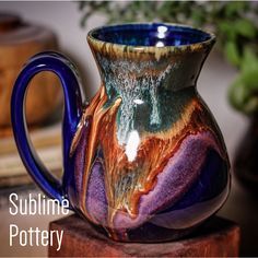 Sedona mug by Amanda Joy Wells of Sublime Pottery Glazes For Pottery, Pottery Mugs, Pottery Art, Ceramic Pottery, Pottery Ideas, Pottery Techniques, Ceramic Techniques, Ceramics Projects, Clay Projects