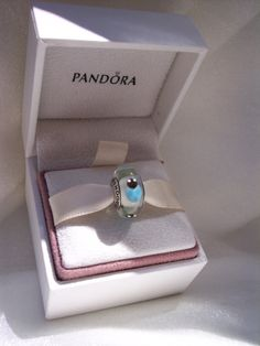 Pandora Charm Blue Lady Bugs Authentic Murano by JEWELSELAGANT, $25.00
