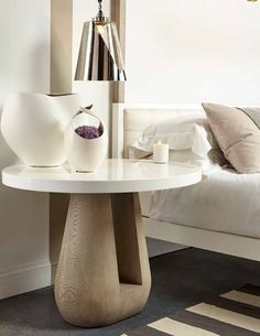 Must-shop destination at #LVMkt July 31-Aug.4: @resource_decor featuring top #interiordesign talents such as Kelly Hoppen. The base of her Gray side #table is French oak.