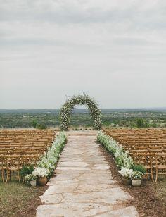 flower arch ceremony