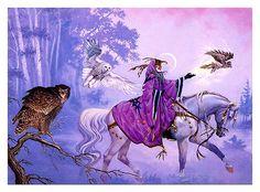 wizard+purple robe+fantasy art - Google Search