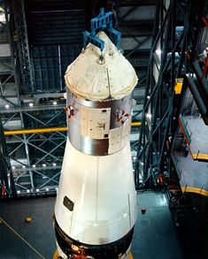 CSM-017 and the SLA (with LTA-10R tucked inside) shown being added to the top of AS-501 Apollo 4, 1967