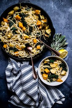 Squash & Kale Linguini with Roasted Garlic Sauce – What do you crave?