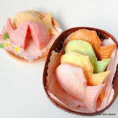 Sakura Taiyaki & Shiro Taiyaki Recipe 桜たいやき作り方のレシピ - Little Miss Bento Bento, Cute Desserts, Asian Desserts, Dessert Recipes, Japanese Sweets, Japanese Food, Japanese Wagashi, Desserts Japonais, Food Porn