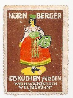 Poster Stamp Nurnberger Lebkuchen Furden Weinachistisch