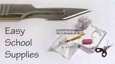 Quick/Easy Miniature School Supplies - Polymer Clay / Mixed Media