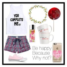 """""""#114 be happy"""" by xjet1998x ❤ liked on Polyvore featuring mode, Fat Face, Carole, Disney, Clinique, The Cellar, Casetify et Converse"""