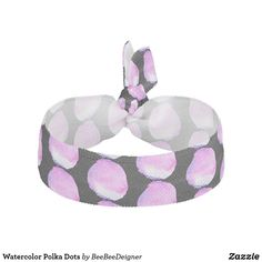 Shop Watercolor Polka Dots Elastic Hair Tie created by BeeBeeDeigner. Elastic Hair Ties, Tie Dress, Bridesmaid Gifts, Watercolors, Your Hair, Polka Dots, Classy, Purple, Pattern