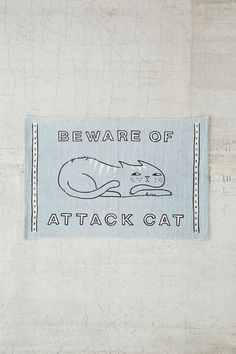 Plum & Bow Beware Of Cat Rug - Urban Outfitters