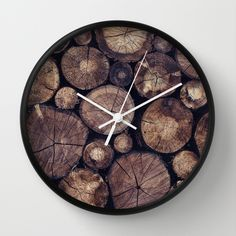 The Wood Holds Many Spirits // You Can Ask Them Now Edit Wall Clock by Tordis Kayma | Society6