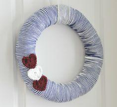 Easy Valentine's Crochet Heart Wreath