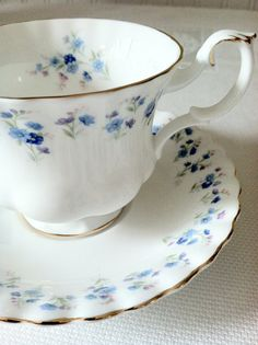 Vintage Royal Albert Tea Cup and Saucer/Memory by MariasFarmhouse, $55.00