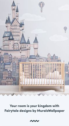 Style a beautifully enchanted room for your little one with this magical collection of fairytale wallpaper, perfect for bedrooms. Bright Wallpaper, Baby Wallpaper, Bedroom Wallpaper Murals, Wall Murals, Castle Mural, Fairytale Castle, Princess Castle, Red Riding Hood, Kid Beds