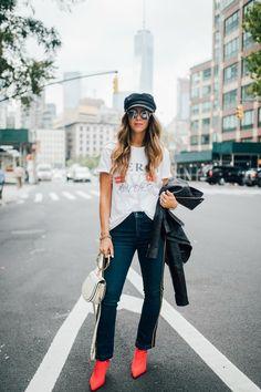 NYFW Style | fall fashion | fashion tips | fall fashion for moms | fall style | fall outfit ideas | outfit ideas for fall | fashion tips for fall | style ideas for fall | cool weather fashion || The Girl in the Yellow Dress