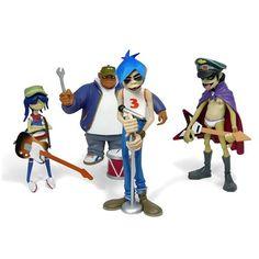 """""""Gorillaz CMYK Edition"""" designer toys by Jamie Hewlett"""