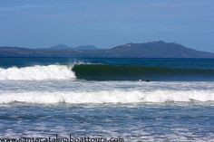 Surfing lessons will still not get me on this wave.... The surf in Santa Catalina, Panama.