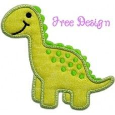 Free Embroidery Design: Darling Dino Applique - I Sew Free