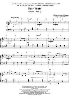 Piano Instruction Digital Sheet Music for Star Wars (Main Theme) by Dan Coates,John Williams, scored for Easy Piano, - Digital Sheet Music for Star Wars (Main Theme) by John Williams, Dan Coates scored for Easy Piano; Trumpet Sheet Music, Clarinet Sheet Music, Cello Music, Easy Piano Sheet Music, Sheet Music Notes, Digital Sheet Music, Drums Sheet, Song Sheet, Piano Lessons