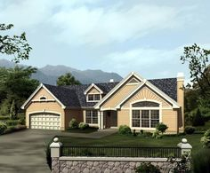 Bungalow Country Ranch Traditional House Plan 86975