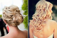 Wedding hair-- the one of the right--not the bun