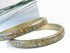 Snakeskin Bangles by WiredOrchid, via Flickr