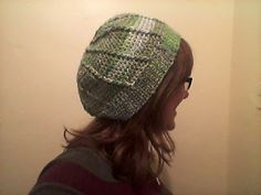 Handmade by Rebekah - slouchy green beret from Simply Crochet magazine