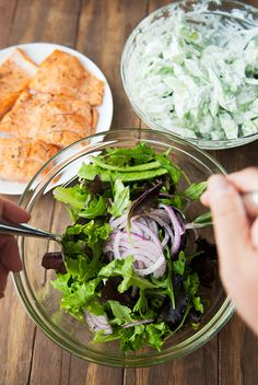 grilled salmon cucumber dill salad recipe | use real butter