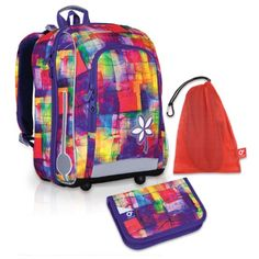 Velký školní set TOPGAL-CHI 735 I Purple + CHI 755 Purple a pytlík na přezuvky Backpacks, Bags, Purple, Fashion, Handbags, Moda, La Mode, Women's Backpack, Fasion