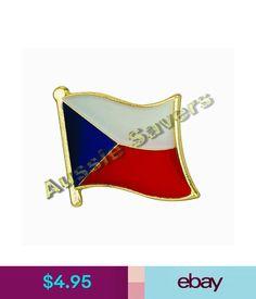 Pins Czech Republic Flag Hat Pin / Badge - Brand #ebay #Collectibles