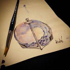 Sketch #watercolor #tattoo #project #acquerello #sketch #watercolortattoo #ink #inked #instatattoo #tattooedgirls #brushes  #anchor #anchortattoo #waves #sea #magic #skincare #bodymods #igersmarche #igerspiceni #picenotattoo #ascolipiceno #bodymods