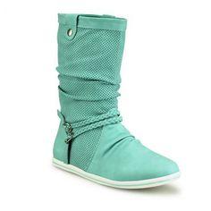 Flache Stiefel #mint #boots #iloveshoes