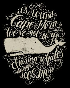Whale typography