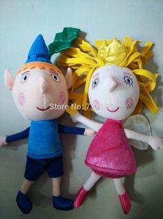 ben en hulst is kleine koninkrijk speelgoed pop action figures knuffel kerst cadeau 9,8 inch(China (Mainland))