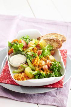 Linssisalaatti Waldorfin tapaan | K-ruoka #kasvisruoka