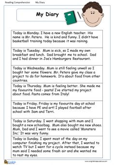 Comprehension – Page 2 – English Treasure Trove English Teaching Materials, Learning English For Kids, Teaching English Grammar, English Lessons For Kids, Improve English Writing, English Writing Skills, English Vocabulary Words, Learn English Words, Reading Comprehension For Kids