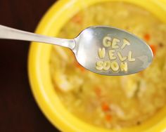 Get Well soup Like and share! :) Please check most delicious soups preparation! Feed A Cold, Easy Vegetable Soup, Fitness And Beauty Tips, Happy Birthday Signs, Alphabet Soup, Get Well Soon, Get Well Cards, Rotisserie Chicken, Feel Better