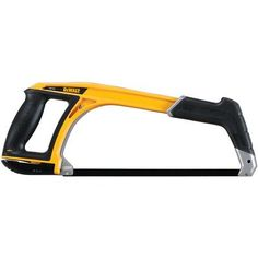 The DEWALT Hacksaw features Sharp Tooth induction hardened teeth for durability. This hacksaw can be used to quickly and comfortably cut through metal and plastic. The hacksaw front handle becomes a pistol grip jab saw for added convenience. Cool Tools, Diy Tools, Hand Tools, Home Depot, Grid Tool, Dewalt Power Tools, Simple Electronics, Garage Atelier, Stanley Tools