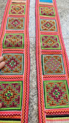 Vintage Hmong Fabric handmade tapestry textiles hill by dellshop, $24.99