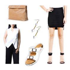 Shopdeca's Head of Merchandising, @fenny.tandika picks her favorite products on Shopdeca.   • Eunoia Sae Top • Heloveedee Kiko Rasi Earrings (Gold) • Marie Turnor Lunch Clutch (Tan) • Cortica Women Kea Sandal (White) • Feist & Heist Mali skirt (Black) . #shopdecapeople #shopdeca #Eunoia #Heloveedee #MarieTurnor #Cortica #FeistandHeist