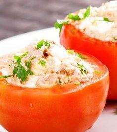 Gefüllte Tomaten mit Thunfisch