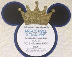 Prince Mickey Invitation - Mickey Mouse Prince Invitation- Mickey Prince Birthday Invitation- Mickey Prince Invitation