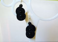 Unique black sutasz soutache bracciali by EmilyArtHandmade on Etsy