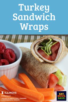 Great for lunches! #turkey #wraps #easylunchideas