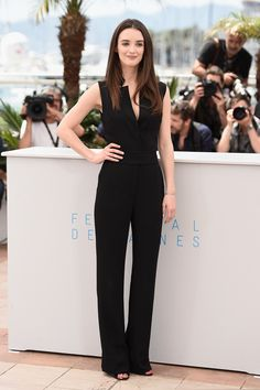 Charlotte Le Bon wears ELIE SAAB PreFall 2015 to the 'Inside Out' photocall during the 68th annual Cannes Film Festival.