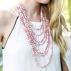 Layers & layers of baubles with @retailkindoftherapy   Shop Bold Beads: http://ift.tt/2aMeCSb  #xo